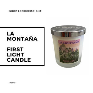 LA MONTANA First Light, Floral Scented Natural Wax Candle Inspired by Spain